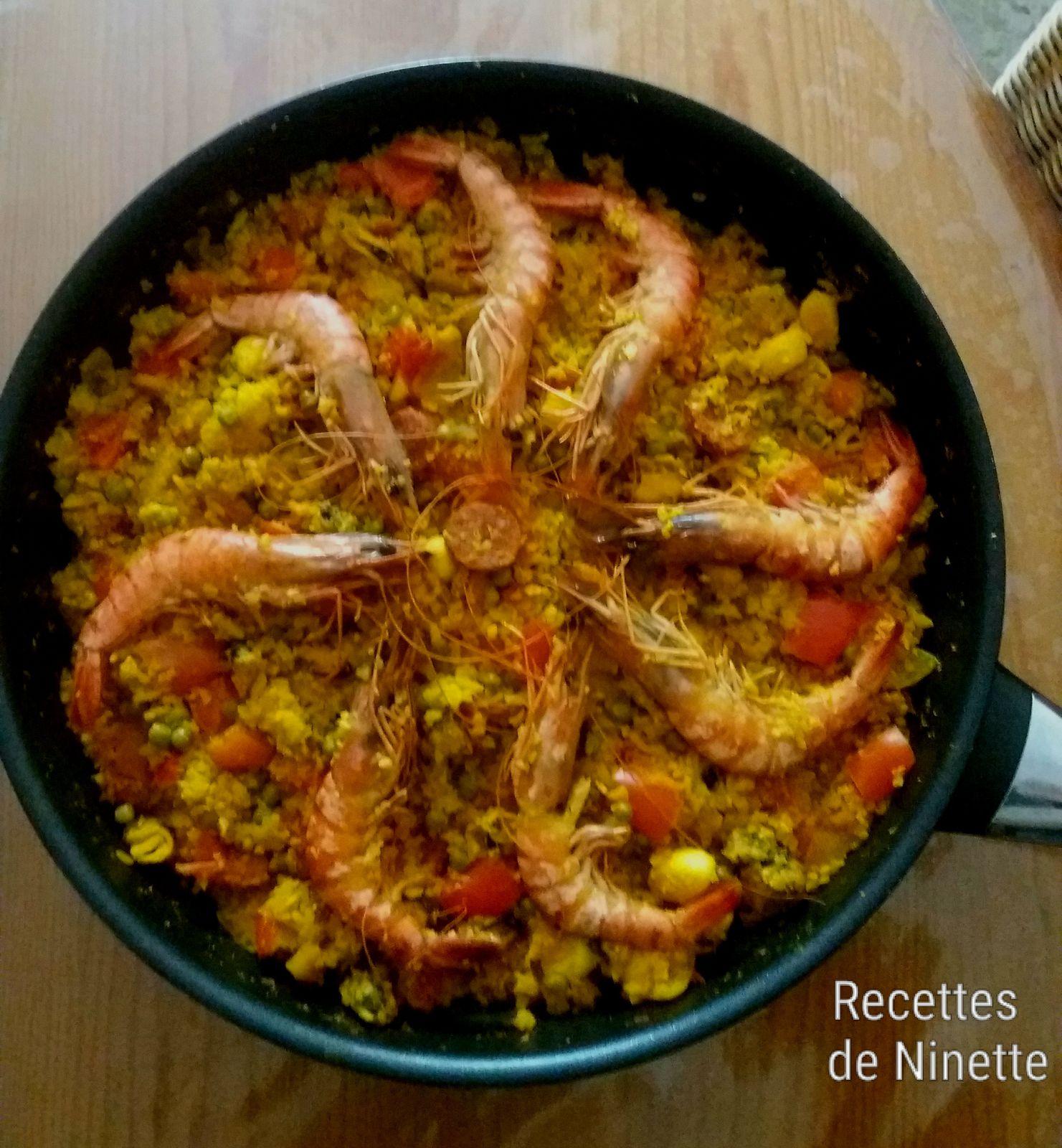 Paella au chou fleur (à la place du riz)