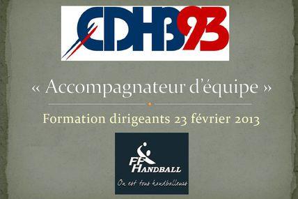 Formation CDHB93 (2nd module 23.02.2013)