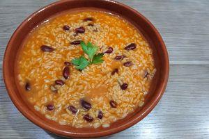 Arroz solto de feijão ou riz aux haricots rouges à la portugaise