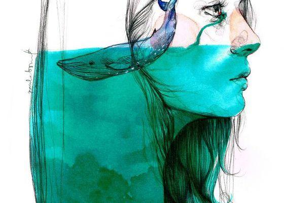 A veces lloramos tantas lágrimas que en ellas podrían nadar ballenas.