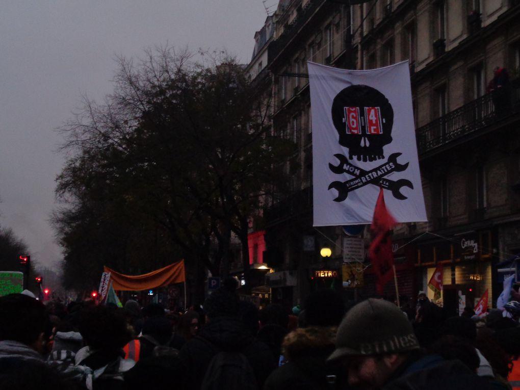 Manifestations contre la réforme des retraites à Paris, les 5, 10 et 17 décembre 2019, ainsi que le 9 janvier 2020.