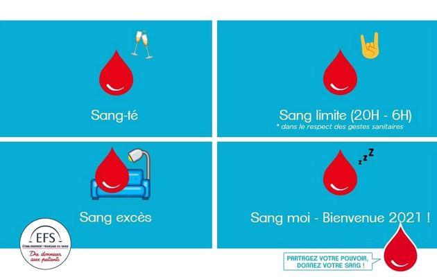 Pub de la semaine : l'Etablissement Français du sang passe le message pour la bonne année 2021