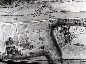 Les jardins à la française dessinés par Le Notre (mais non réalisés par lui) et le plan d'Intendance du XVIIIe siècle