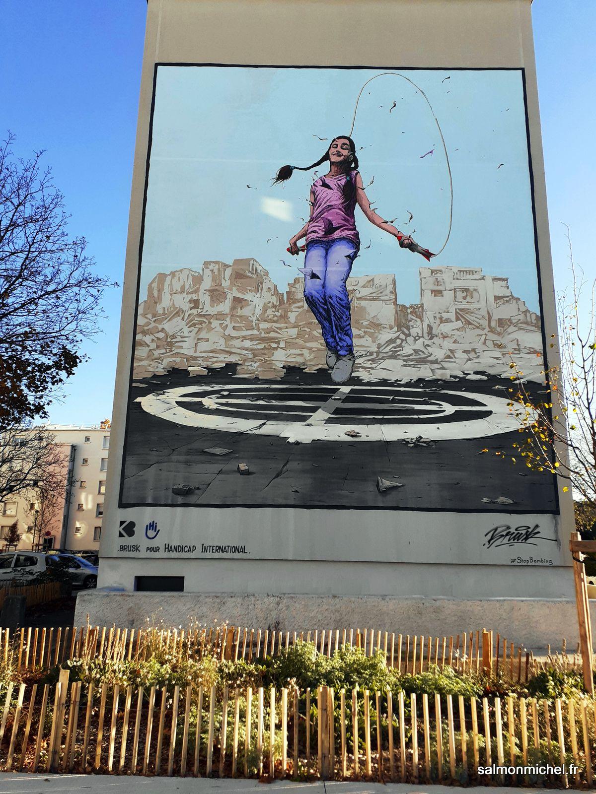 Fresques murales quartier des États-Unis à Lyon