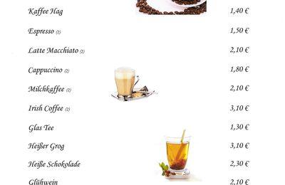 Getränkekarte