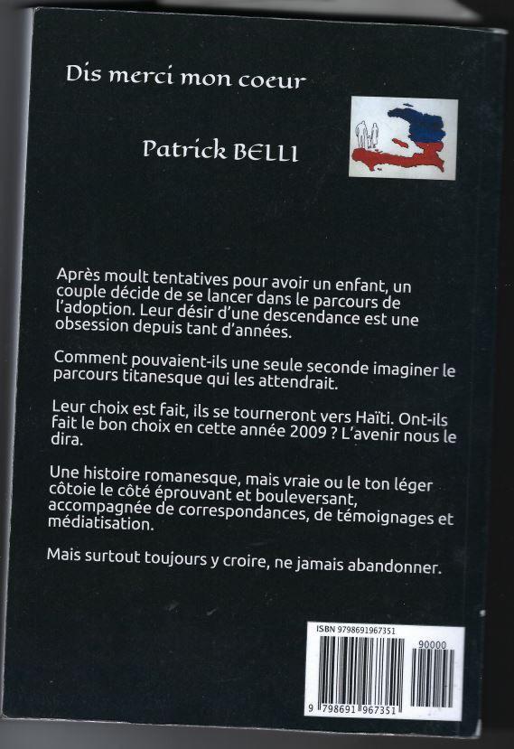 """dis merci mon cœur"" de Patrick Belli"