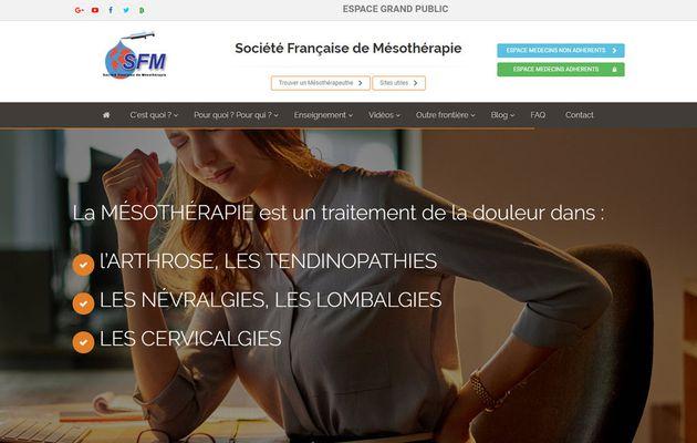 La SFM Societe Francaise de Mesotherapie vous présente son nouveau site WEB www.sfmesotherapie.com