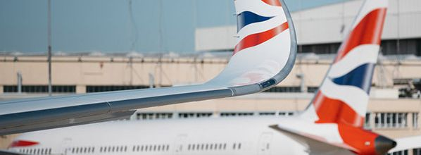 British Airways' first Airbus 350 touches down at London Heathrow