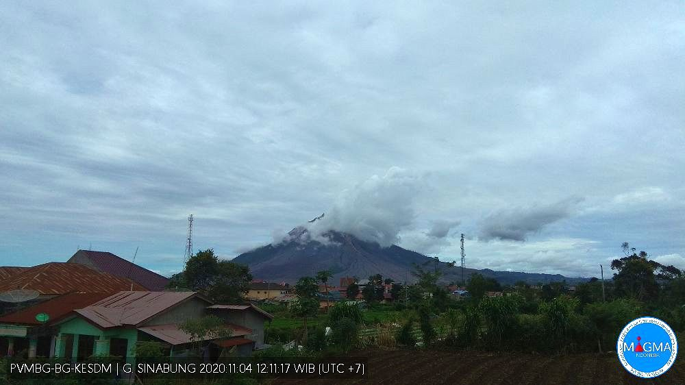 Sinabung - 04.11.2020 / 12:11 WIB - PVMBG webcam