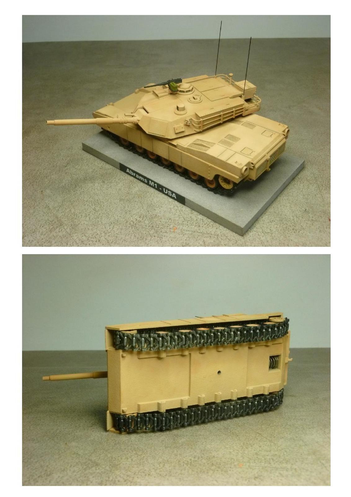 Char US M1 Abrams (Impression 3D - 1/50 - par Jean-Charles)