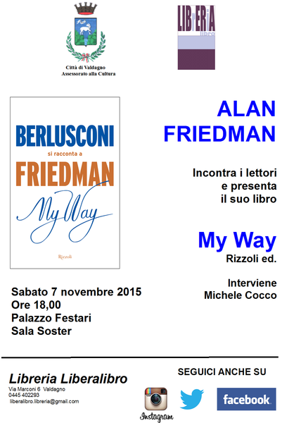 "ALAN FRIEDMAN presenta ""MY WAY"""