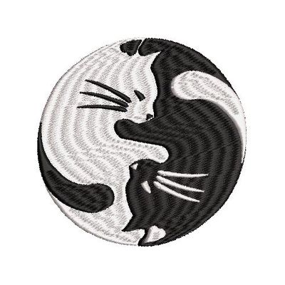 BRODERIE LES CHATS YING YANG