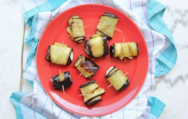 Aubergines à la mozzarella façon tapas