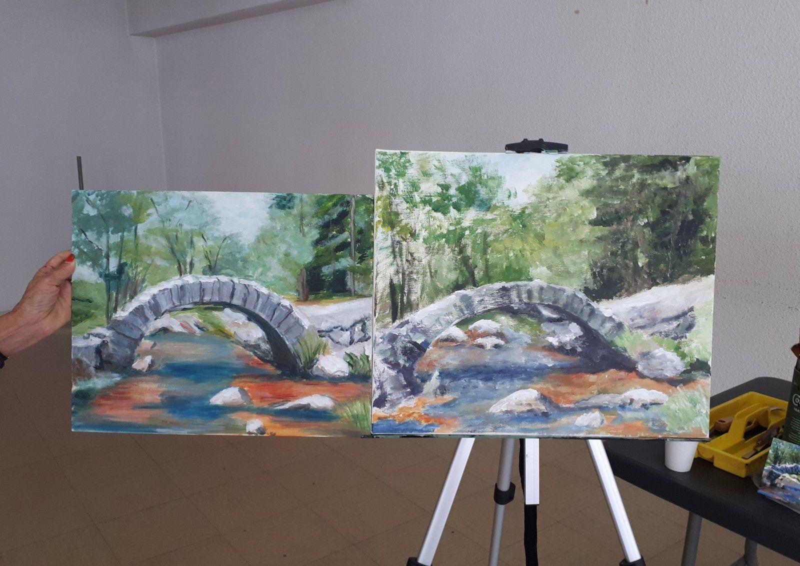 Reprise des cours de peinture acrylique les jeudis à la Salle des Champs Frétauts