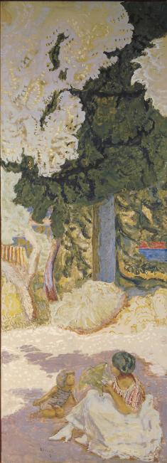 Pierre Bonnard, La Méditerranée. Triptyque. Etude à Saint-Tropez, 1911. Huiles sur toile commandées par Ivan Morozov en janvier 1910. Ici, panneau de droite, 407×149cm. Musée d'État de l'Ermitage, Saint-Pétersbourg.