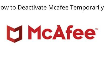 The Best way to Disable  McAfee Antivirus.