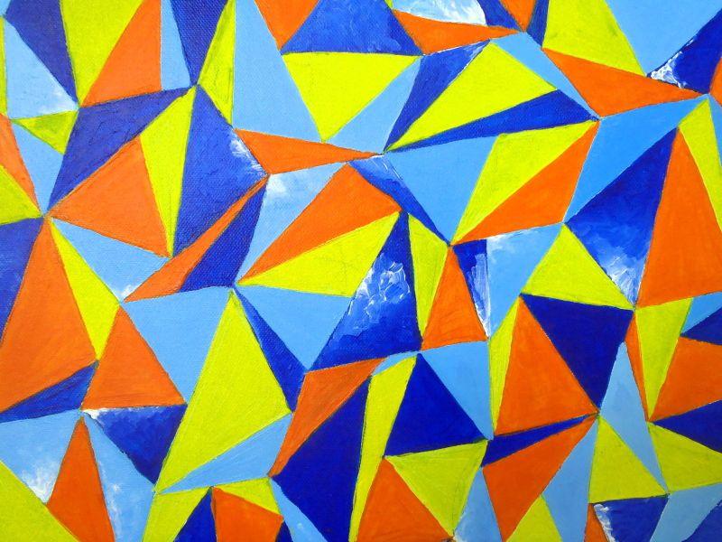 Barcelone - Acrylique sur toile