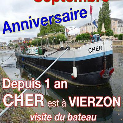 Premier anniversaire de mon blog, et du Cher à Vierzon !
