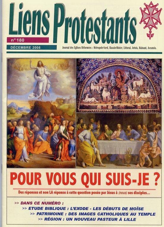 Les couvertures de Liens protestants pour l'année 2008