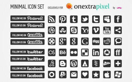 Minimal icon 2.0 set
