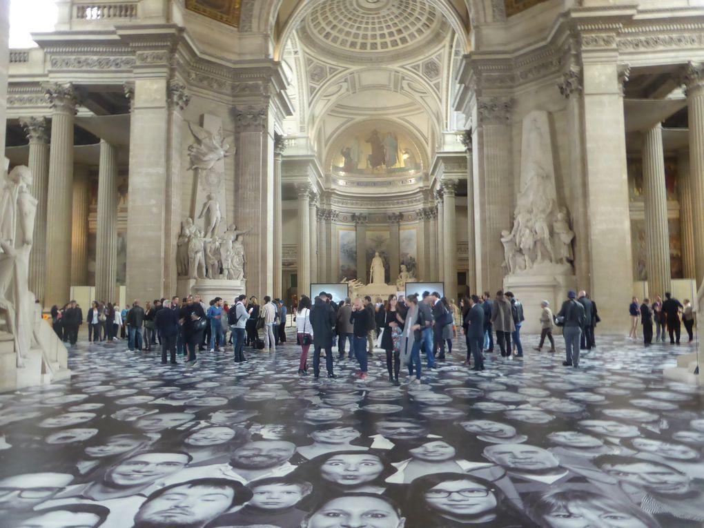 «Au Panthéon !» installation de JR © Photographies Gilles Kraemer, juin 2014