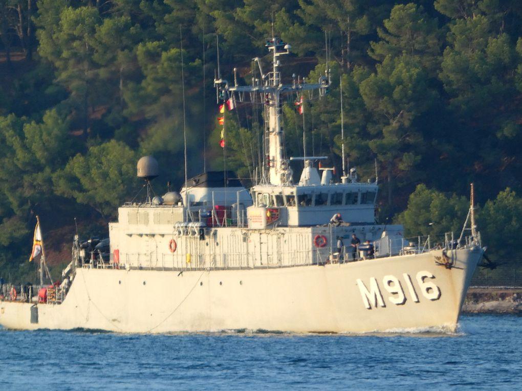 BELLIS  M916 , , dragueur de mines de la marine royale belge arrivant au port de Toulon le 24 septembre 2020