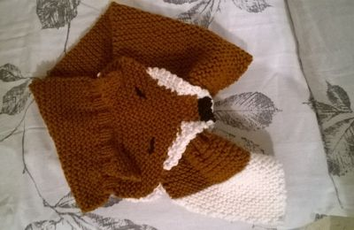 écharpe renard au tricot