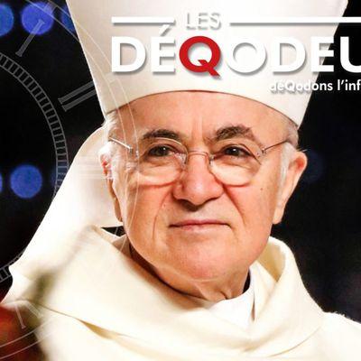 """Archevêque Carlo Maria #VIGANO : """"...C'EST LE PRÉLUDE À LA FIN DES TEMPS..."""" et il n'est plus seul à dénoncer....."""