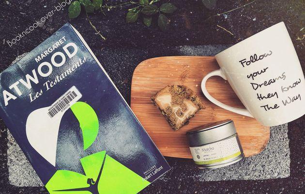 Spécial lundi pâtisserie : entre livre audio et gourmandise (gâteau magique thé matcha & chocolat blanc).