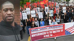 D'Athènes à Minneapolis : La Jeunesse Communiste de Grèce proteste contre le meurtre de George Floyd