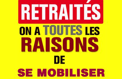 Action Nationale intersyndicale des retraité-e-s 17 novembre 2020