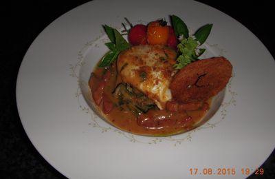 Oeuf poché sauce bourguignonne