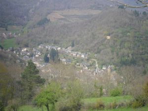 point de vue sur la vallée du Lot