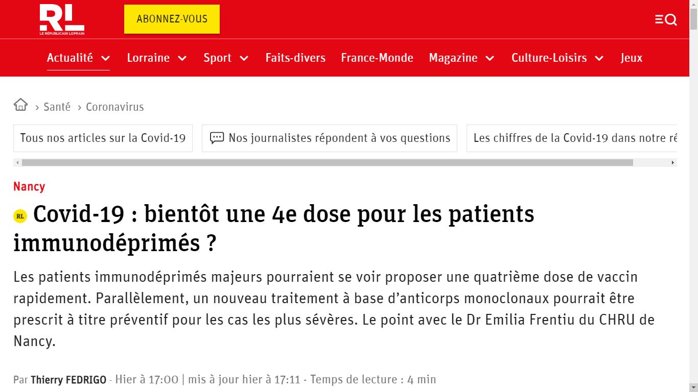 https://www.republicain-lorrain.fr/sante/2021/08/21/immunodepression-et-covid-19-bientot-une-4e-dose