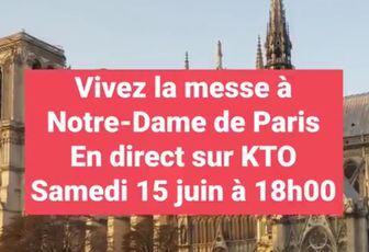 LA PREMIÈRE MESSE À NOTRE DAME DE PARIS EN DIRECT ICI