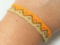 Tutoriel et patron: bracelet brésilien motif zig zag
