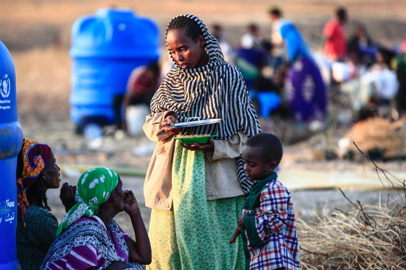 Des Ethiopiennes ayant fui les combats dans leur pays, le 16 novembre 2020, dans le camp de réfugiés d'Oum Raquba, dans l'est du Soudan / AFP