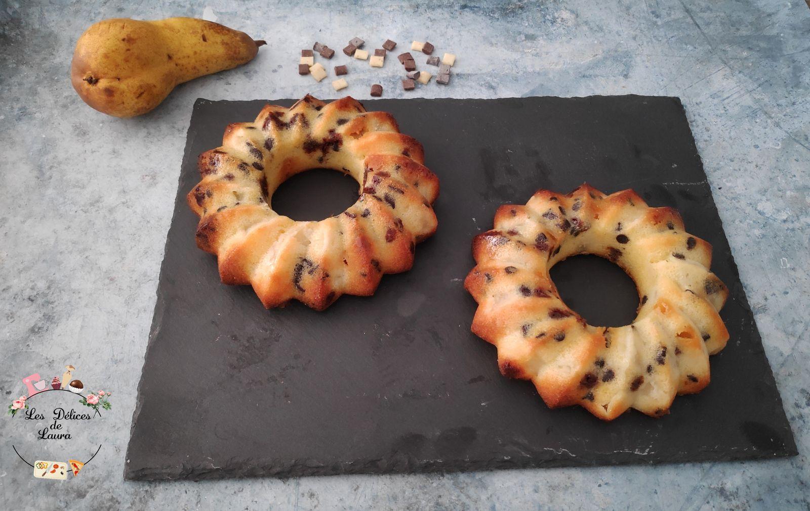 Gâteaux aux poires et chocolat