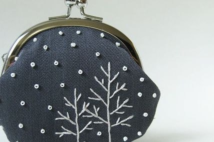 Trees in snow coin p