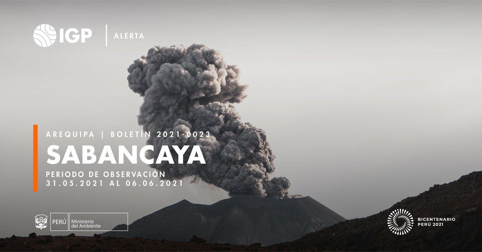 Sabancaya - activity report from 05.31 to 06.06.2021 / IGPeru