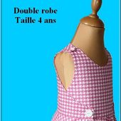 Patron double robe Taille 4 ans