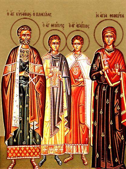 Sainte Martyre Theopiste avec son Saint Epoux et ses saints enfants de Rome