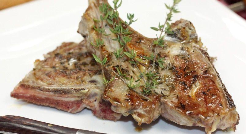 Côtes d'agneau aux herbes au four  8💚💙💜