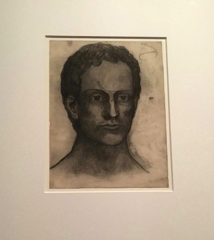 Portrait d'homme, Paris, décembre 1902, Fusain, crayon Conté et estompage sur papier, Paris, Musée national Picasso-Paris