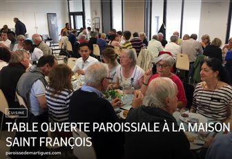 TABLE OUVERTE PAROISSIALE À LA MAISON SAINT FRANÇOIS