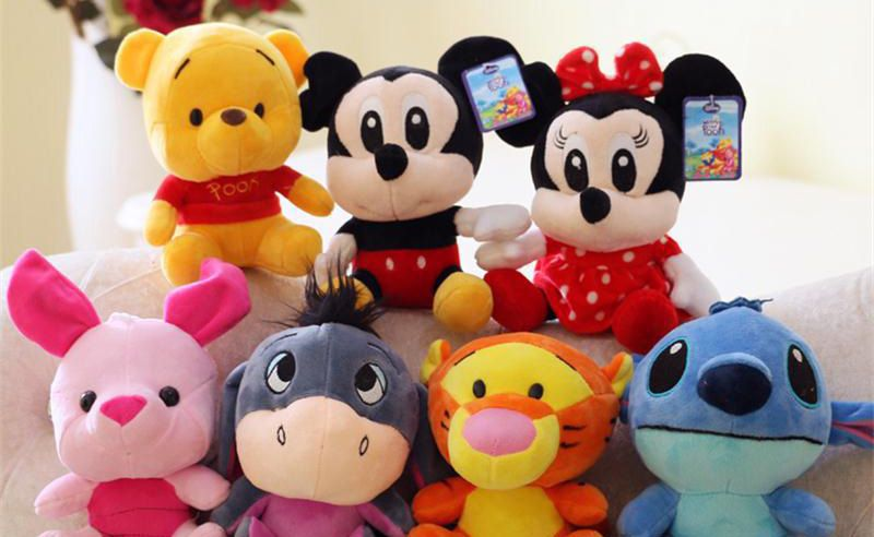 peluches disney personnages dessins animés