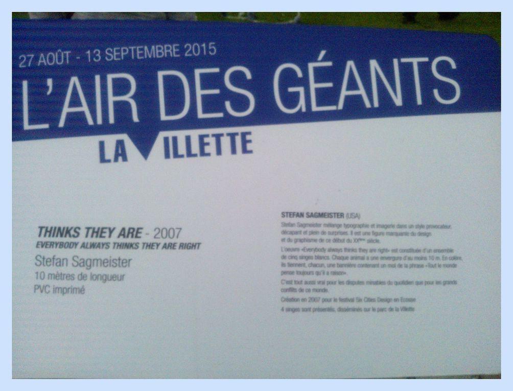 L'Air des géants à La Villette.