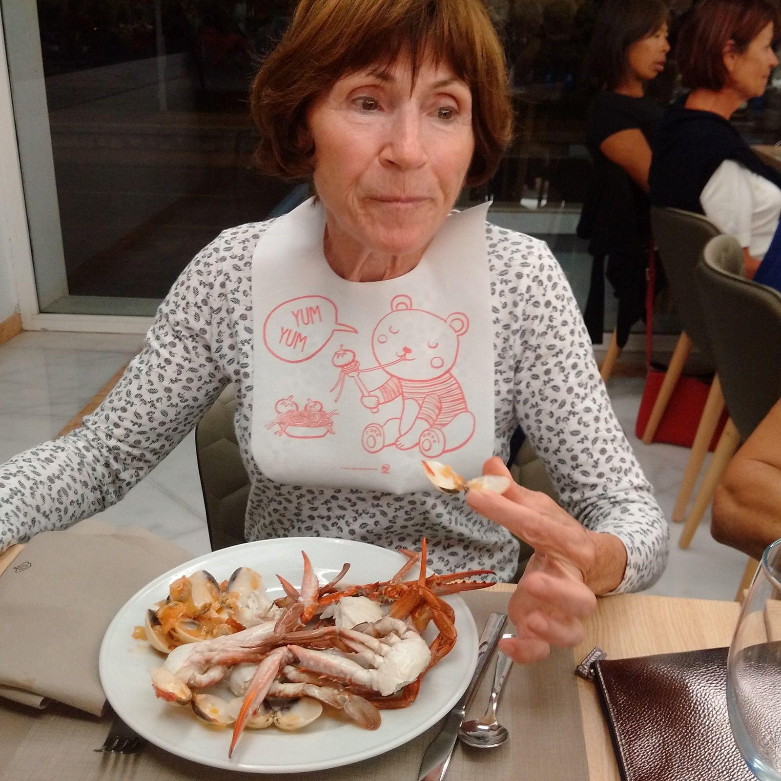 Les fruits de mer...un régal pour Marie Jeanne