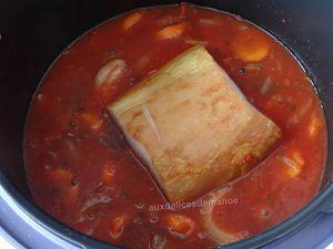 Rôti de porc fumé et lentilles au coulis de tomates au Cookéo ou pas