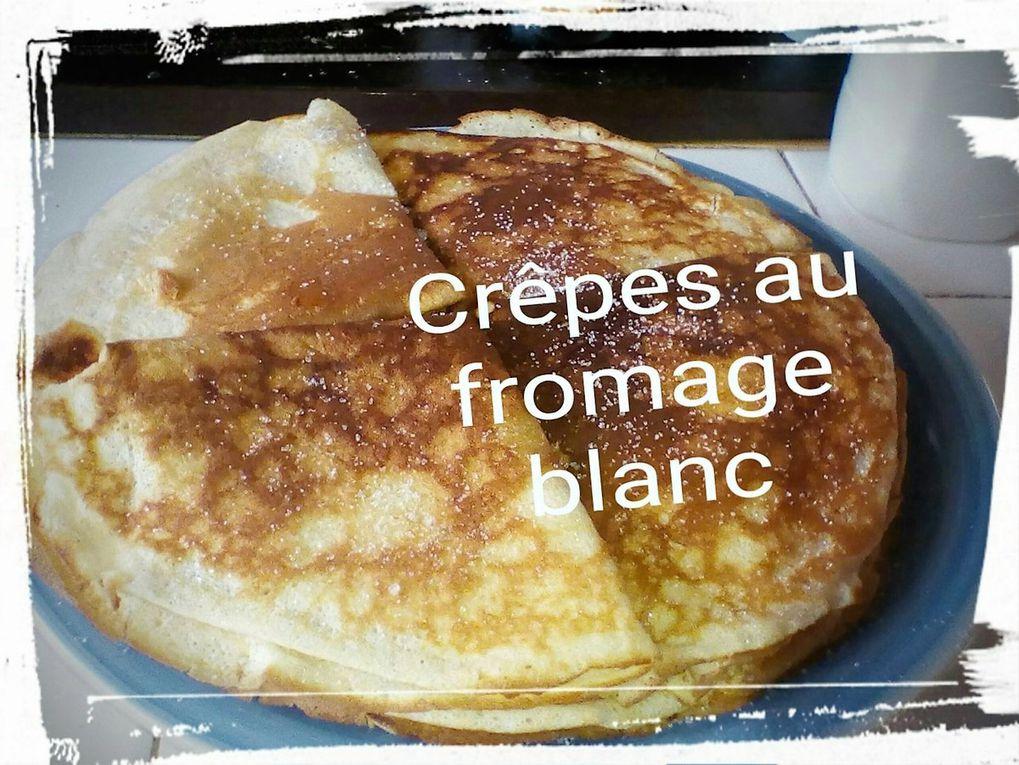 Mes crêpes au fromage blanc
